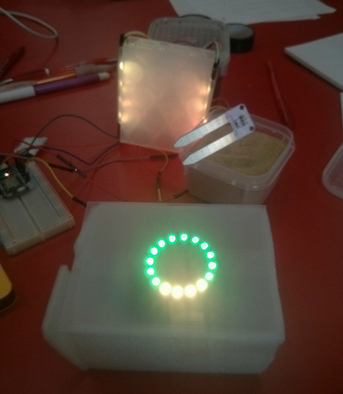 Neopixel and sensors connected